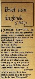 19710305 Brief aan dagboek.
