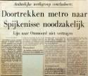 19710316 Doortrekken metro naar Spijkenisse noodzakelijk