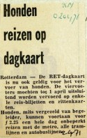 19710402 Honden reizen op dagkaart (RN)