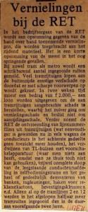19710511 Vernieling bij RET.