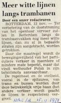19711115 Witte lijnen. (NRC)