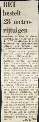 19720114 28 metro's besteld.