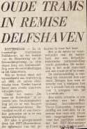 19720428 Oude trams in Delfshaven.