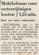 19720508 Kosten mobilofoons metro. (NRC)