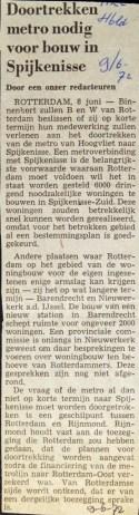 19720609 Doortrekken metro nodig. (NRC)