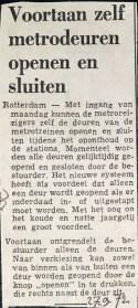 19720927 Metrodeuren zelf bedienen.