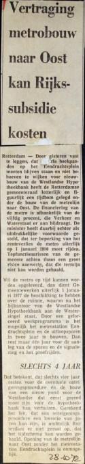 19721028 Vertraging metrobouw.