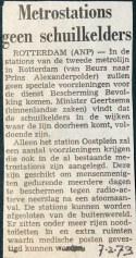 19730207 Stations geen schuilkelders.