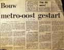 19730522 Bouw metro gestart.