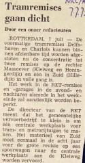 19730707 Tramremise dicht. (NRC)