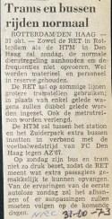 19731031 Trams en bussen normaal. (NRC)