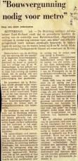19740725 Bouwvergunning nodig metro. (NRC)