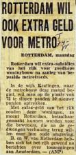 19750407 Extra geld metro. (DTG)
