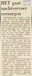 19750409 RET nachtvervoer. (NRC)