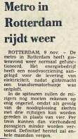 19761109 Metro rijdt weer. (NRC)