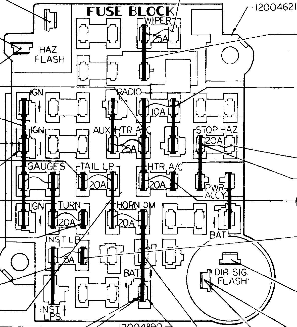 [WRG-8538] 1988 Chevy S10 Fuse Block Diagram