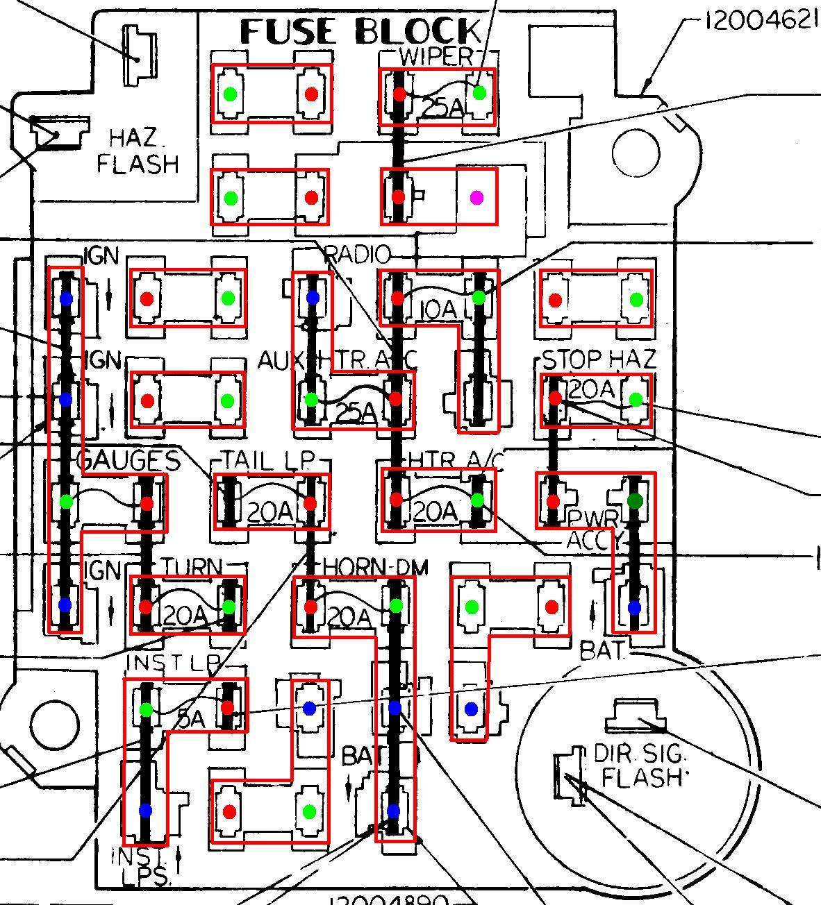 hight resolution of 1974 1978 mustang fuse box diagram