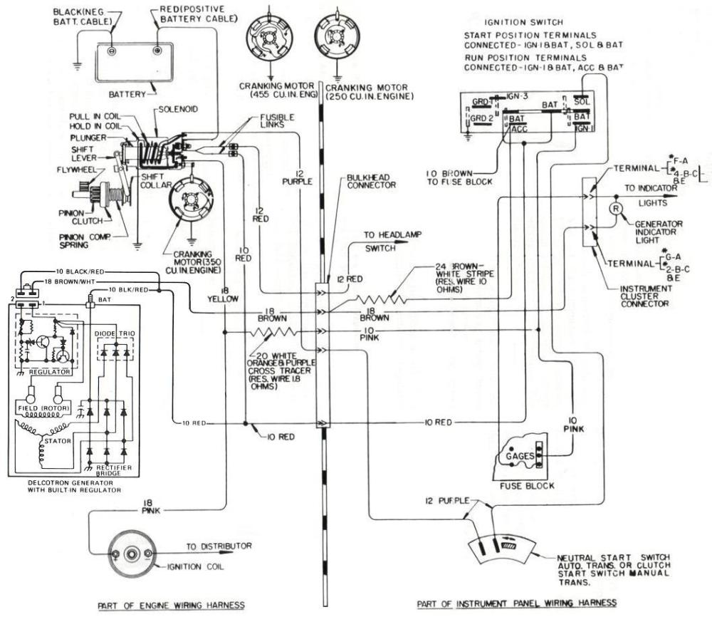 medium resolution of 1973 to 1985 buick internally regulated alternator wiring overview gm internal regulator wiring diagram ford alternator wiring diagram internal regulator