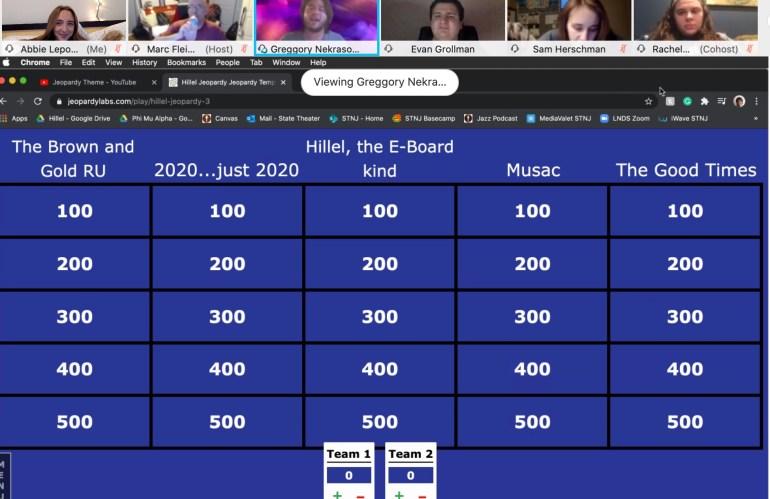 Hillel Host Virtual Jeopardy Night!