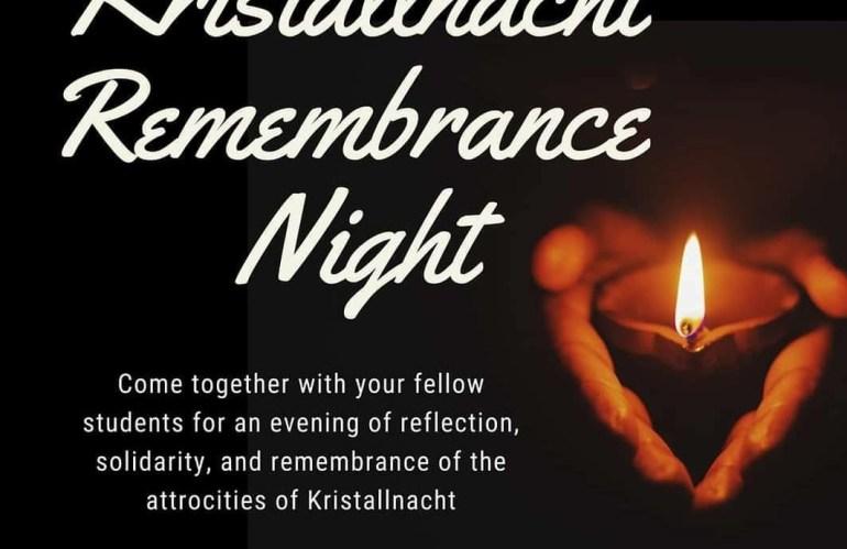 Hillel Cosponsors Kristallnacht Commemoration