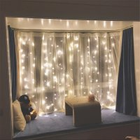 LED Window Curtain String Lights for Home Decor