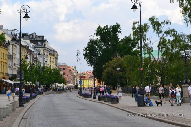 Co prawda fota z przedpołudnia, ale żeby nie było jest Krakowskie Przedmieście