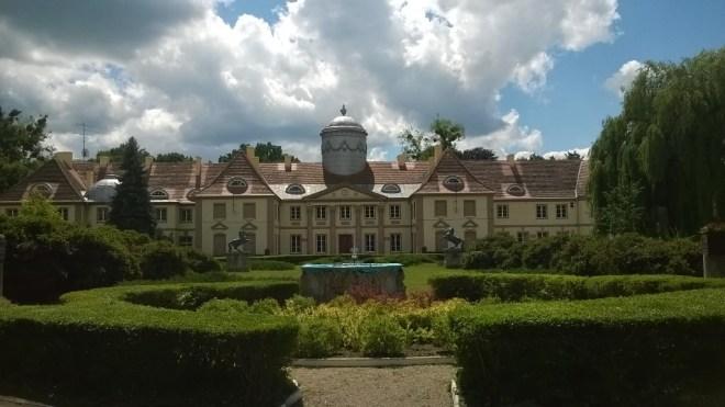 Pałac w Miliczu. Obecnie Technikum Leśne
