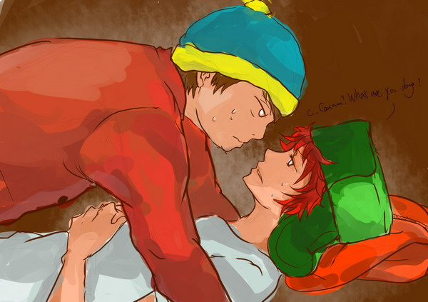 Homoerotic South Park Fanart - Eric Cartman x Kyle Broflovski love - yaoi, Japan