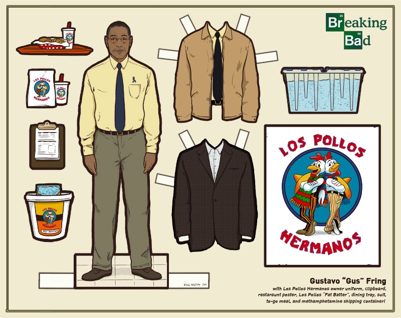 gus fring paper doll