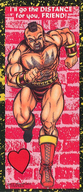 Zangief - Street Fighter 2 Valentine's Day Cards