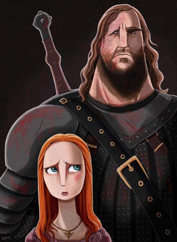 Game of Thrones: Sansa and The Hound by Alon Boroda
