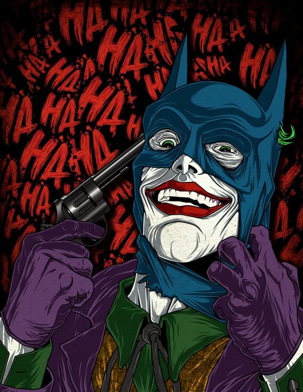 The Last Laugh - Joker wearing Batman's mask