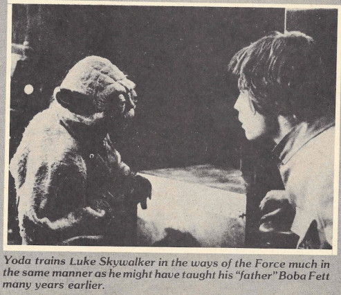 Yoda taught Boba Fett - Fantastic Films Dec 1980