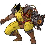 Spencer (Bionic Commando) x Wolverine - Marvel vs Capcom Amalgam Universe - gaming fanart