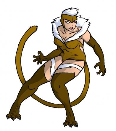 Felicia x Sabretooth - Marvel vs Capcom Amalgam Universe - gaming fanart