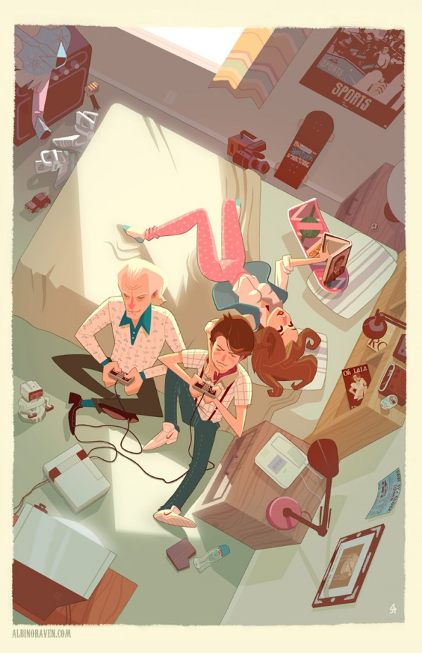 Marty's Room by Glen Brogan - Back to the Future FanArt - Marty McFly, Doc Brown