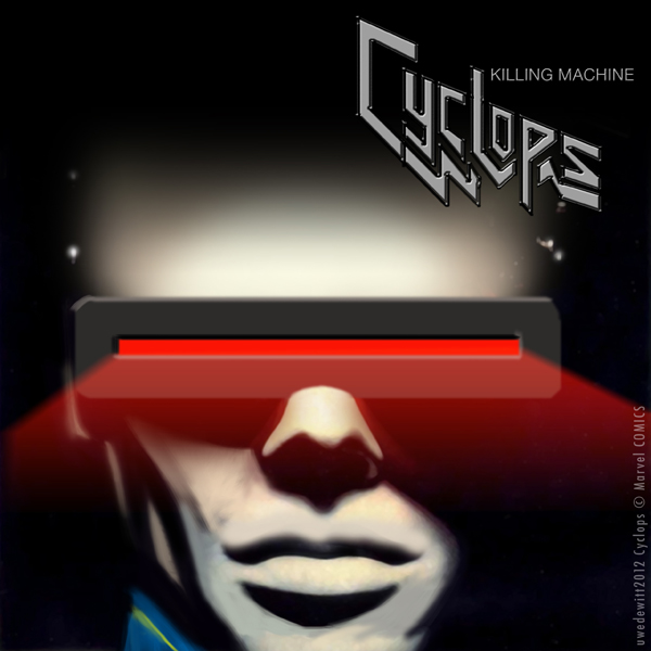 Cyclops x Judas Priest Killing Machine Album Cover - X-Men, Marvel Comics