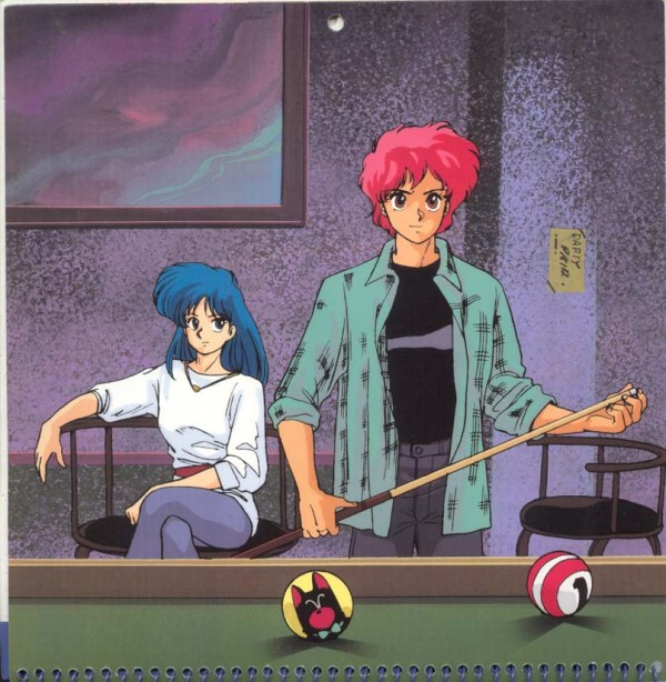 Dirty Pair Hollywood Calendar:The Color of Money - Kei, Yuri, anime, manga, Hustler 2, Hirota Mayumi