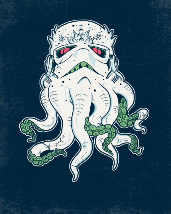 Stormthulhu: Stormtrooper x Cthulhu by Hillary White - H. P. Lovecraft, Star Wars