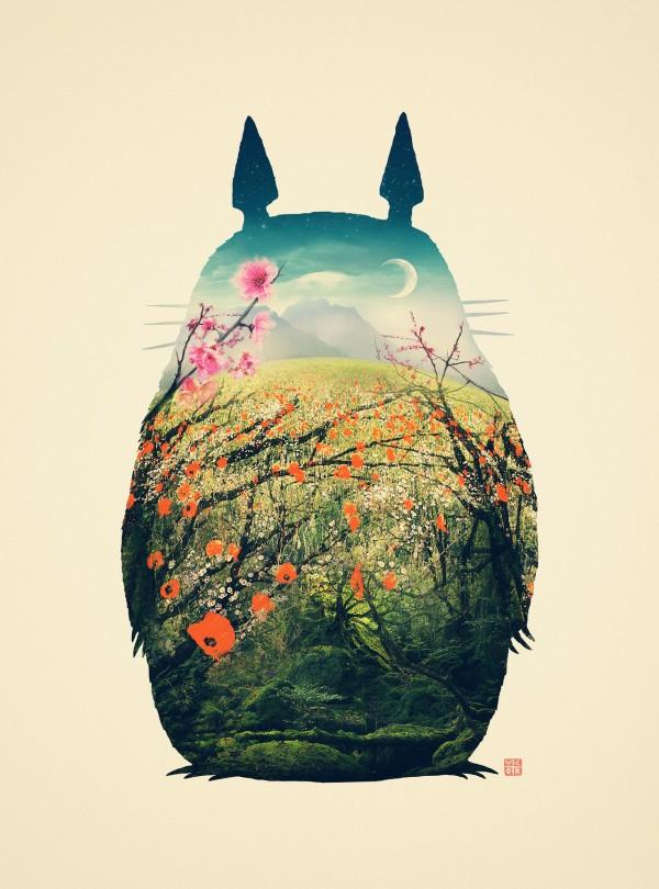 My Neighbor Totoro Art by Victor Vercesi - Anime, Hayao Miyazaki, Studio Ghibli