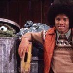 Oscar the Grouch and Michael Jackson - Sesame Street 1978 Christmas Special Photo