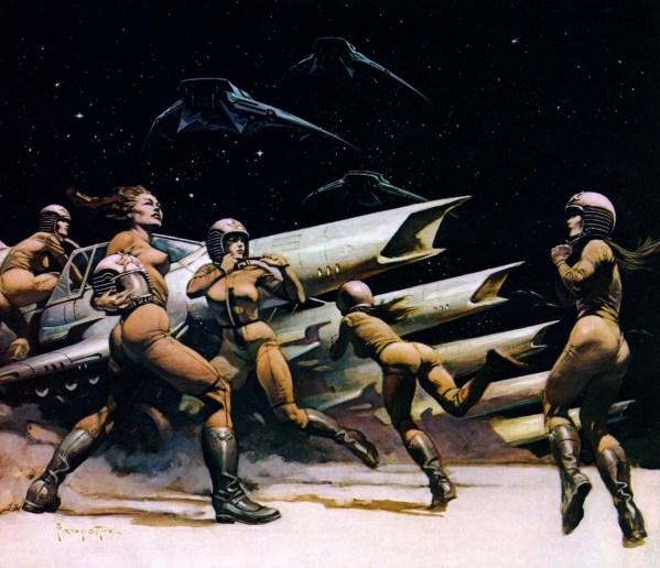 Frank Frazetta Battlestar Galactica Paintings - Lost Planet of the Gods - BSG, Sci-Fi Art