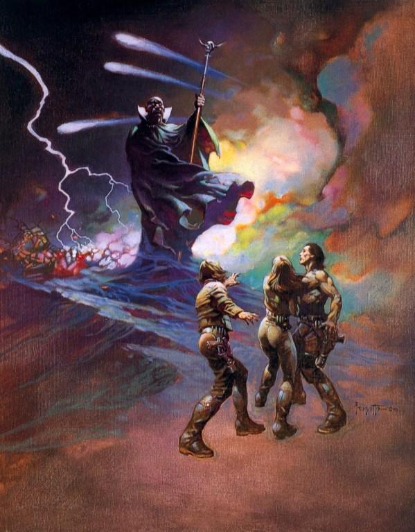 Frank Frazetta Battlestar Galactica Paintings - Count Iblis - BSG, Sci-Fi Art