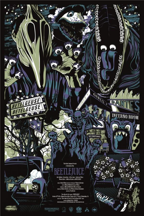 Beetlejuice Poster by Anthony Petrie - Tim Burton, Michael Keaton, Alec Baldwin, Geena Davis, Movies, FanArt