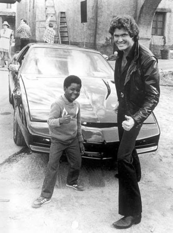 Gary Coleman, David Hasselhoff, and KITT - Thumbs Up, Knight Rider, Behind the Scenes, Diff'rent Strokes, Arnold