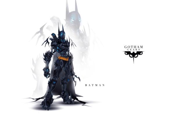 Gotham Gears: Batman by Justin Currie - Comics, Robots, Art