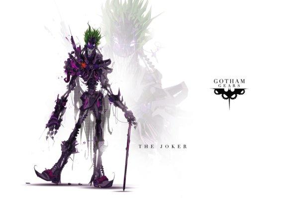 Gotham Gears: The Joker by Justin Currie - Batman, Robots, Art