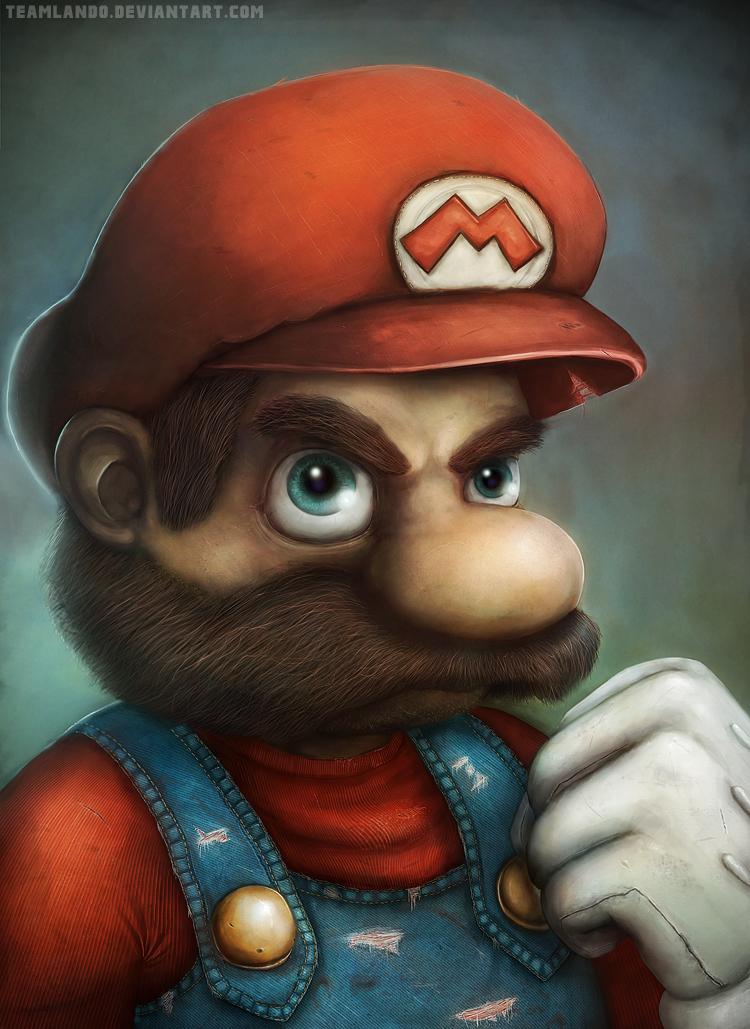 Mario Portrait By Mange & Viggo