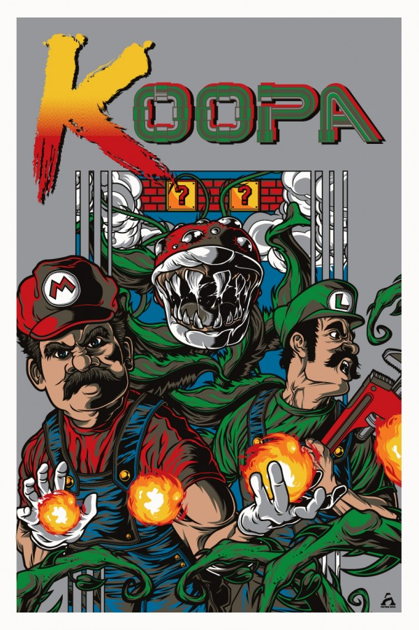 Contra x Super Mario Bros Mashup Art - Gaming, Nintendo, Konami