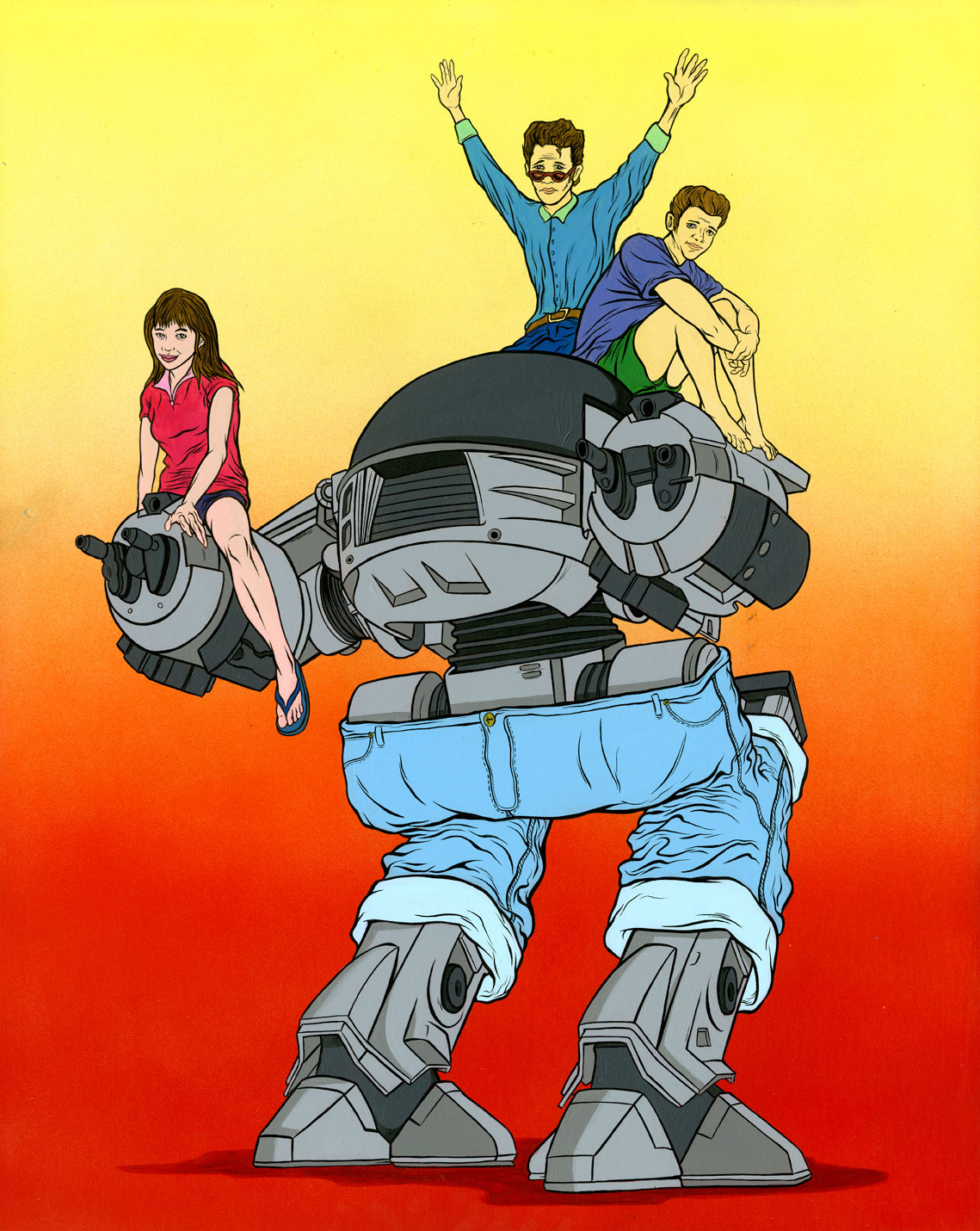 ED-2090210 [RoboCop X Beverly Hills 90210 Mashup Art]